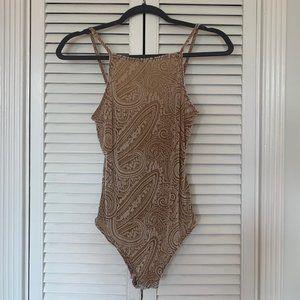 Tops - Paisley Velvet Bodysuit